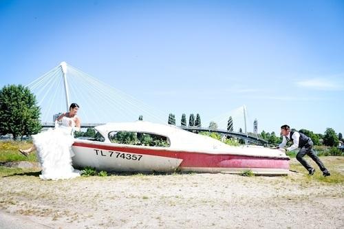 photos sympa de mariés à strasbourg  - Instant d'émotion