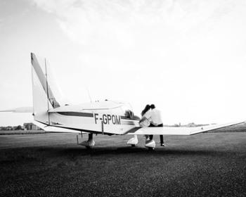 Instant d'émotion - Strasbourg - Séance d'engagement à l'aérodrome de Strasbourg