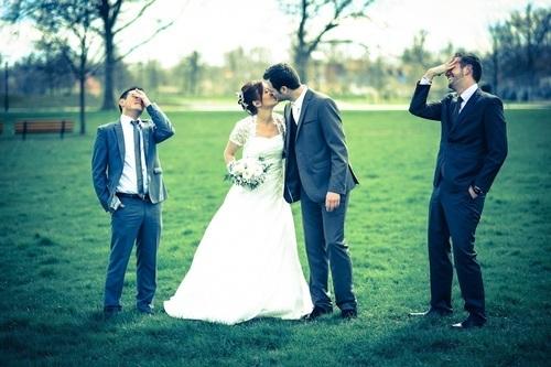 photos de mariés et leur témoins à strasbourg  - Instant d'émotion