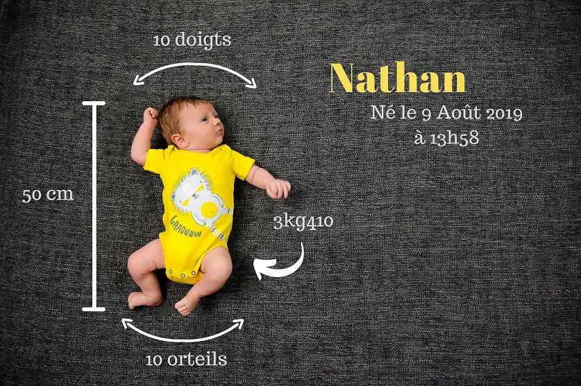 Idée pour les faire-part de photos de naissance